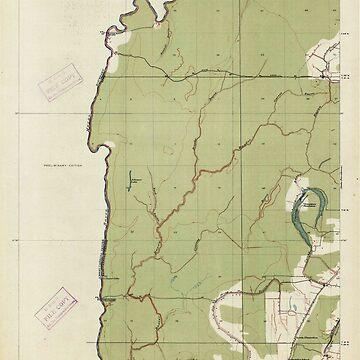 USGS TOPO Map Louisiana LA Baxter Bayou 333631 1914 31680 by wetdryvac