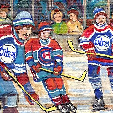 GOALIE MAKES THE SAVE MONTREAL FORUM AND BELL CETER HOCKEY NIGHT IN CANADA C SPANDAU HOCKEY ARTIST by CaroleSpandau