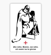 Knight Templar praying ☩ Chevalier templier en prière Sticker