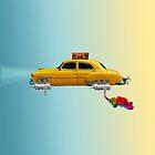 Yellow science fiction car by jsebouvi