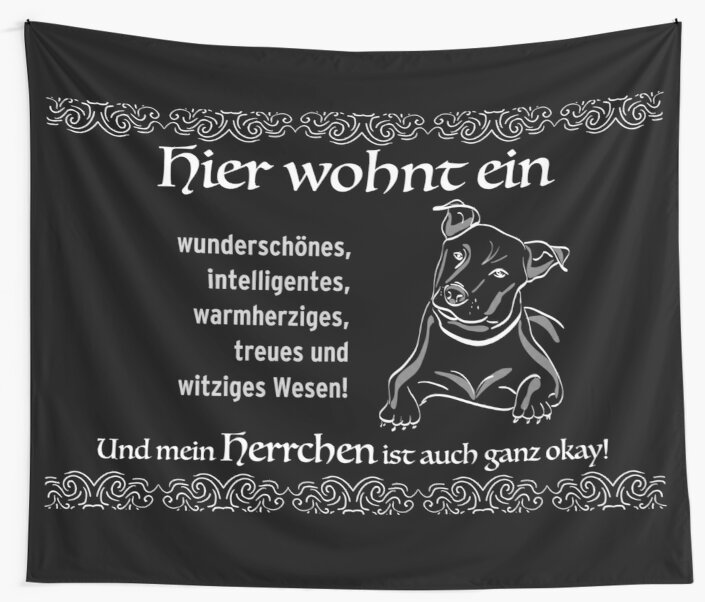 Gift idea for dog owners, for inauguration or birthday. Bulldog with master - the perfect flat share! by qwerdenker