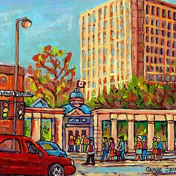 MCGILL UNIVERSITY PAINTING FOR SALE RODDICK GATES COLLEGE STUDENTS ART SCENES C SPANDAU FINE ARTIST by CaroleSpandau