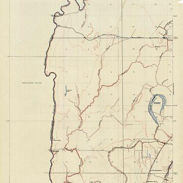 USGS TOPO Map Louisiana LA Baxter Bayou 333632 1914 31680 by wetdryvac