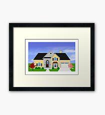 Home rendering Framed Print