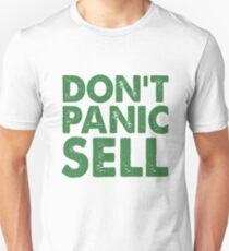 Dont Panic Sell Crypto Currency Bitcoin Slim Fit T-Shirt