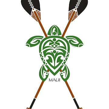 Green Tribal Turtle 2 Stand-Up / Maui by srwdesign