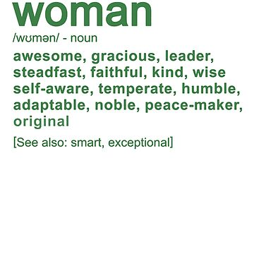 Woman Definition Family Friends Job Funny by Manqoo