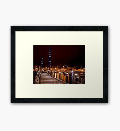 Torquay Hafen Lichter Gerahmtes Wandbild