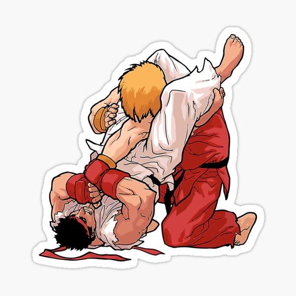 Ken and Ryu Jiu Jitsu Moment - Martial Arts Sticker