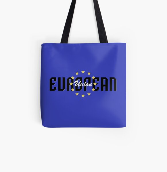 European Union Flag All Over Print Tote Bag