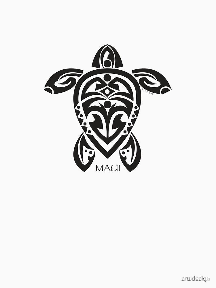 Black Tribal Turtle Tattoo / Maui by srwdesign