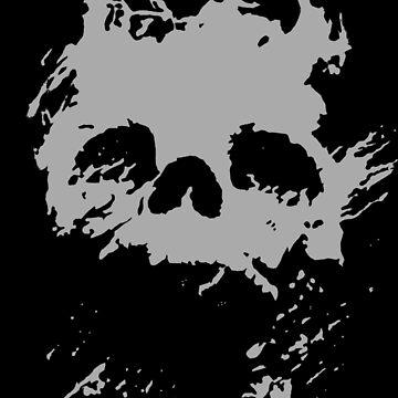 Fading Light Death Skull by onitees
