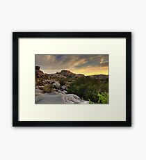 Sunset at Barker Dam Framed Print