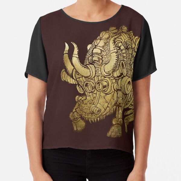 golden mechanical bull Chiffon Top