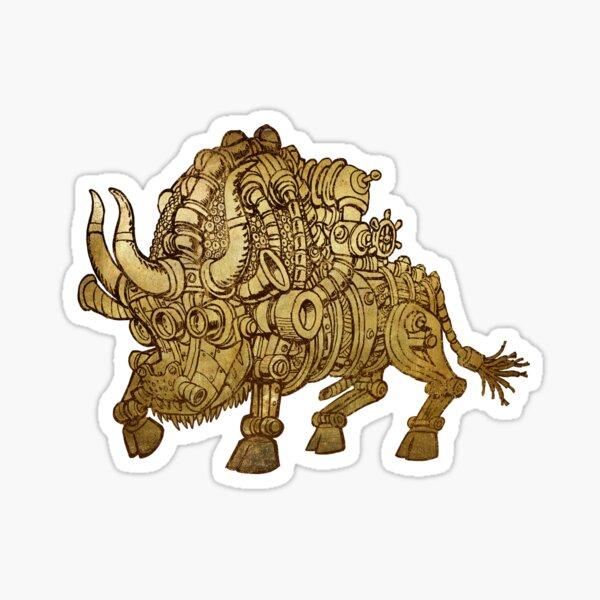 golden mechanical bull Sticker