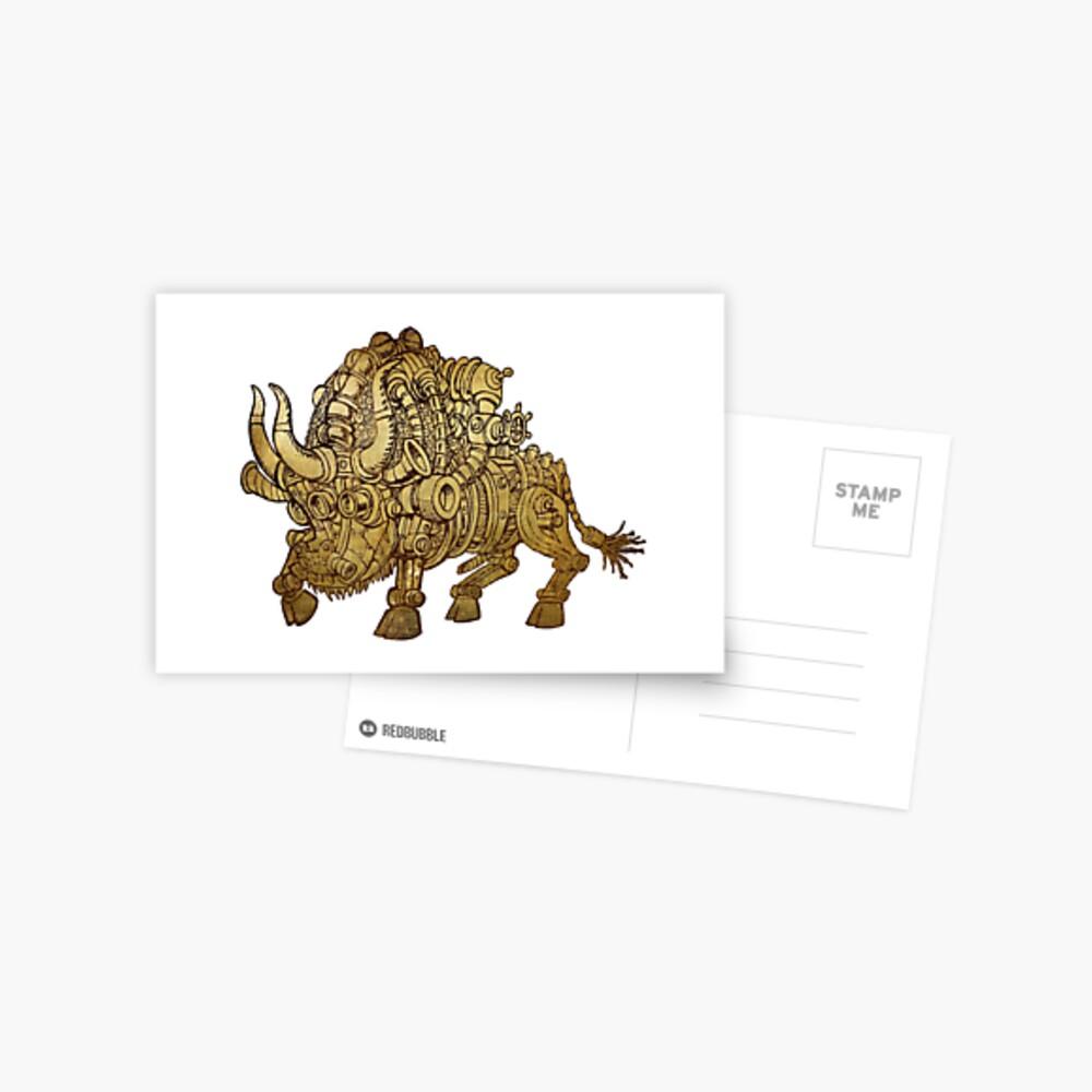 golden mechanical bull Postcard