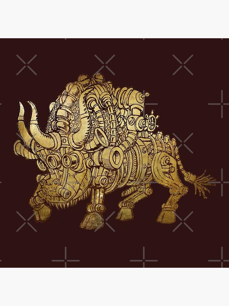golden mechanical bull by duxpavlic