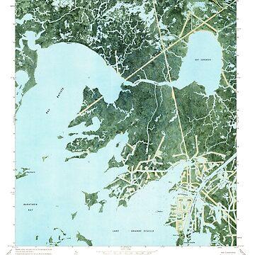 USGS TOPO Map Louisiana LA Bay Batiste 331337 1973 24000 by wetdryvac