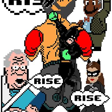 The Dark Knight - Punch out: Rise! by swagfrog