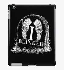 Doctor Who I Blinked Gravestone iPad Case/Skin