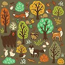 Forest Critters Pattern by michelledraws