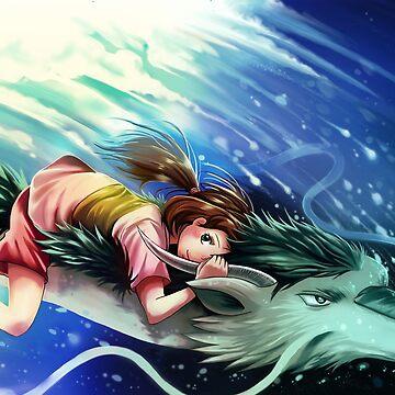 Spirited Away - Chihiro and Haku by michelledraws