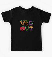 Veg Out - dark colors Kids Tee