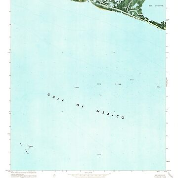 USGS TOPO Map Louisiana LA Bay Coquette 331339 1973 24000 by wetdryvac