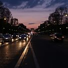 Champs Elysee at Dusk by mcrphotography