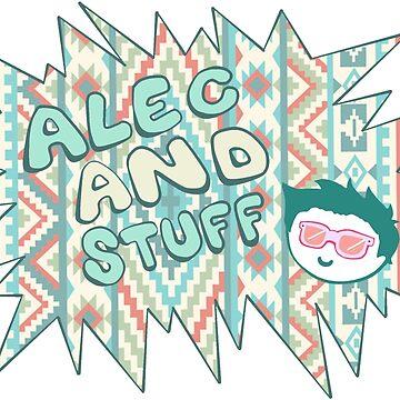 New alecandstuff Logo (Aquamarine Aztec) by alecandstuff