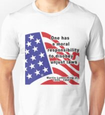 """Martin Luther King Jr. """"Disobey Unjust Laws"""" T-Shirt"""