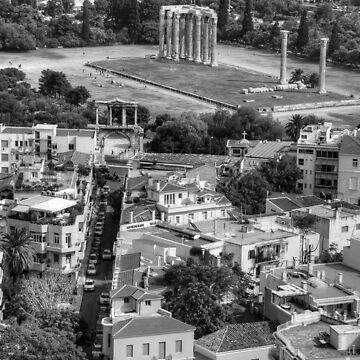 The Olympieion - B&W by tomg