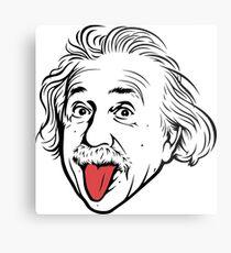 Lienzo metálico Ilustraciones de Albert Einstein Con su famosa foto que muestra la lengua, camisetas, impresiones, pósters, bolsos