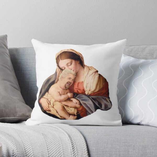 Our Lord and Savior Guy Fieri Throw Pillow
