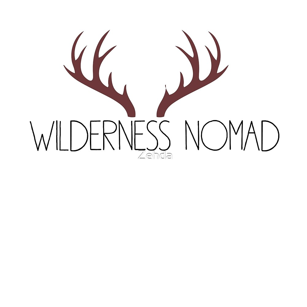 Wilderness Nomad With Antlers by Zehda