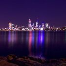 Perth by night by Dominic Parkes