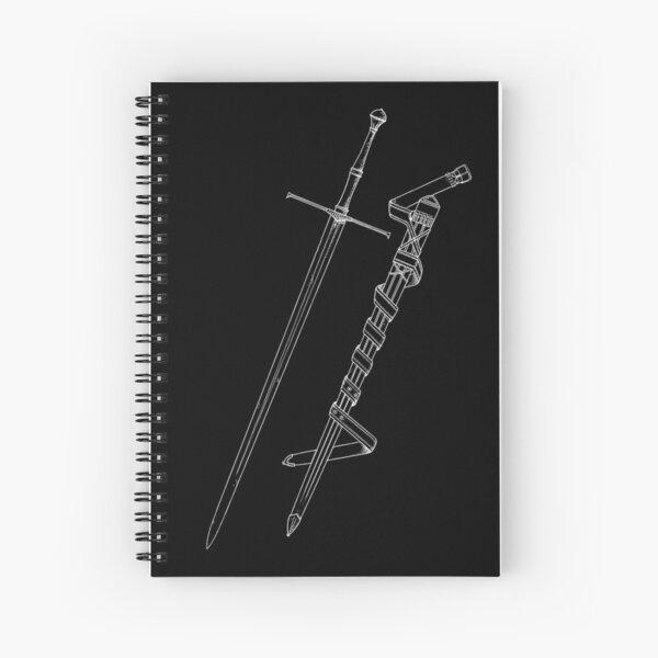 blade and scabbard Spiral Notebook