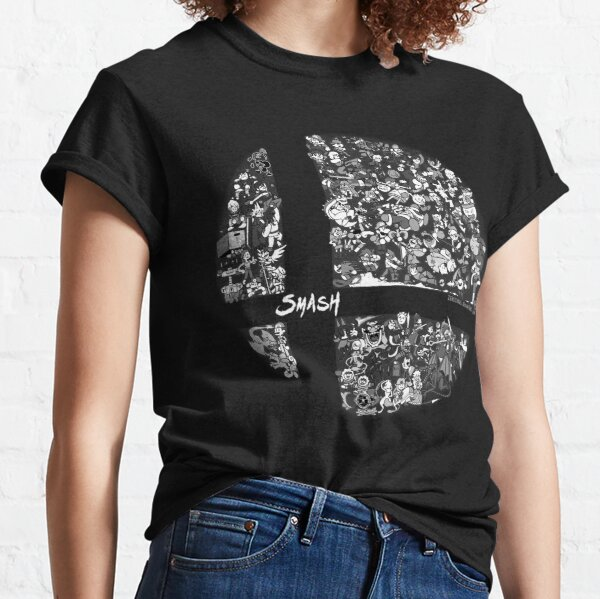 Super Smash Bros. Ultimate (Grayscale) Classic T-Shirt