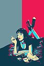 Pulp Fiction Revisited - Mia Wallace  by Serge Averbukh