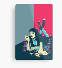 Pulp Fiction Revisited - Mia Wallace  Metal Print