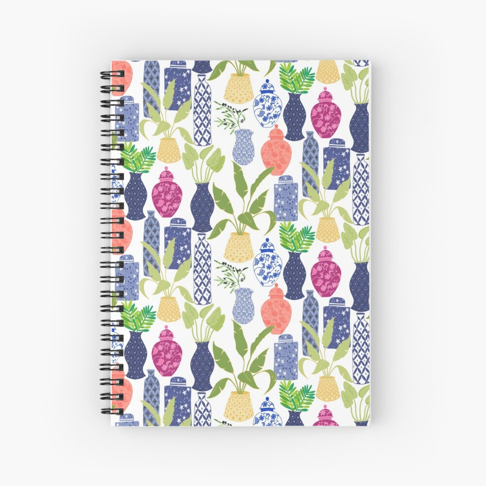 Chinoiserie Vases Spiral Notebook