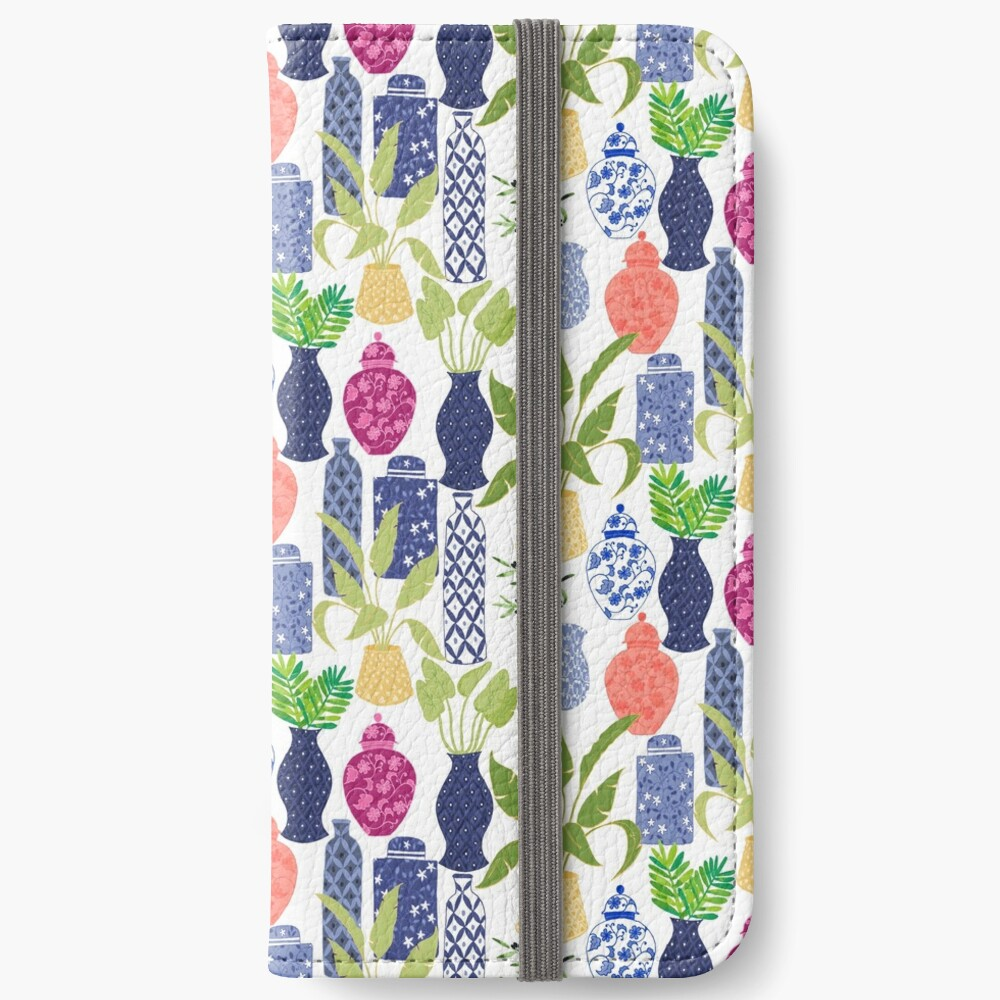 Chinoiserie Vases iPhone Wallet