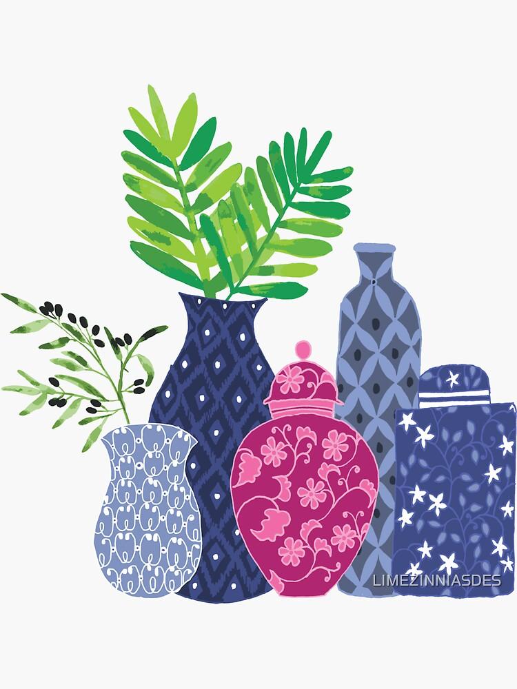 Chinoiserie Vases by LIMEZINNIASDES