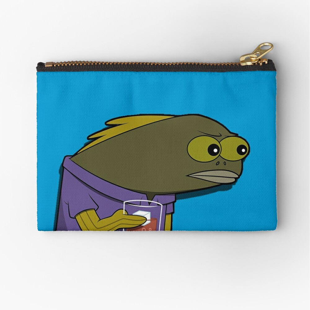 What did you do to my drink spongebob fish zipper pouch