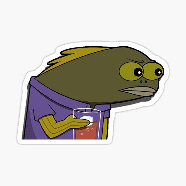Was hast du mit meinem Drink gemacht? Spongebob Fisch Sticker