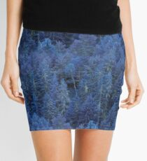 Mystical Blue Forest Mini Skirt