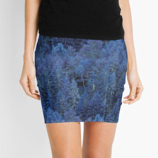 Mystical Blue Forest Mini Skirt
