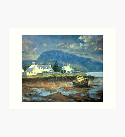 Plockton, Scotland at LowTide Art Print