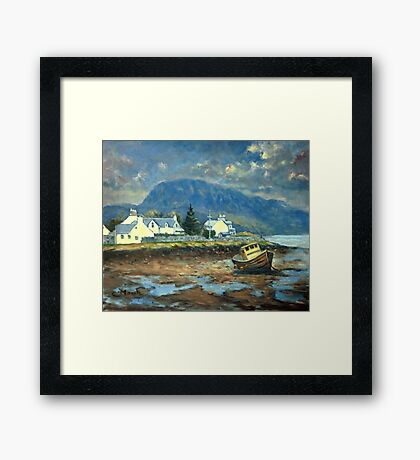 Plockton, Scotland at LowTide Framed Print