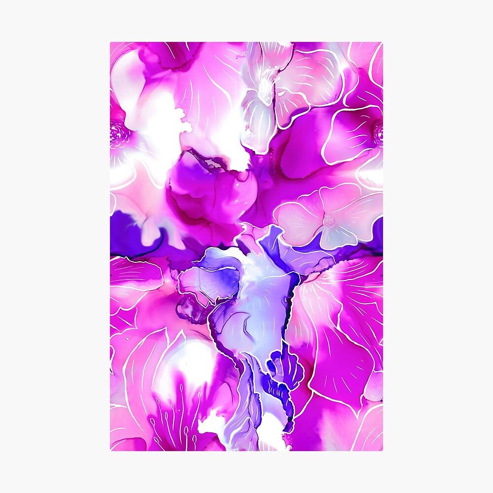 Purple Posies  Photographic Print